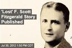 'Lost' F. Scott Fitzgerald Story Published