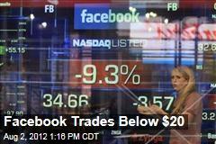 Facebook Trades Below $20