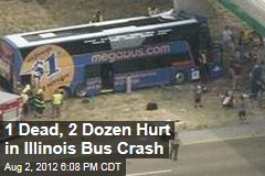 1 Dead, 2 Dozen Hurt in Illinois Bus Crash