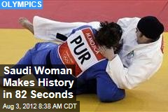 Saudi Woman Makes History in 82 Seconds
