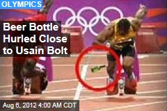 Beer Bottle Hurled Close to Bolt