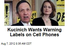 Kucinich Wants Warning Labels on Cell Phones