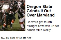 Oregon State Grinds It Out Over Maryland