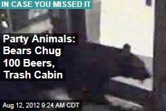 Party Animals: Bears Chug 100 Beers, Trash Cabin