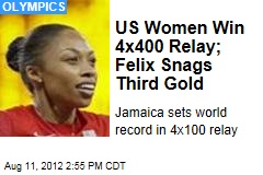 US Women Win 4x400 Relay