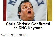 Chris Christie Confirmed as RNC Keynote