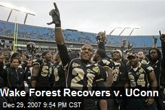 Wake Forest Recovers v. UConn