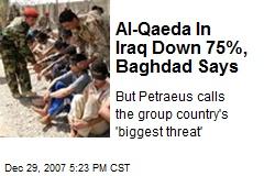 Al-Qaeda In Iraq Down 75%, Baghdad Says