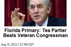 Florida Primary: Tea Partier Beats Veteran Congressman