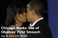 Chicago Marks Site of Obamas' First Smooch