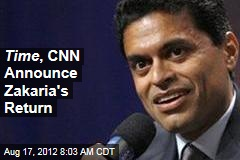 Time , CNN Announce Zakaria's Return