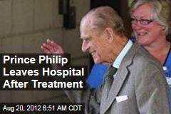 Prince Philip Leaves Hospital After Treatment