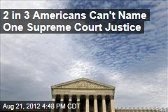 2 in 3 Americans Can't Name One Supreme Court Justice