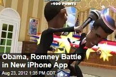 Obama, Romney Battle in New iPhone App