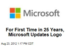 For First Time in 25 Years, Microsoft Updates Logo