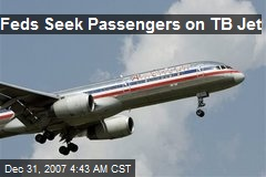 Feds Seek Passengers on TB Jet