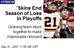 'Skins End Season of Loss in Playoffs