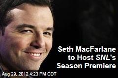 Seth MacFarlane to Host SNL 's Season Premiere