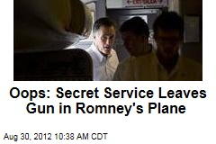 Oops: Secret Service Leaves Gun in Romney's Plane