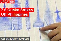 7.9 Quake Strikes Off Philippines