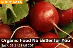 Organic Food No Better for You