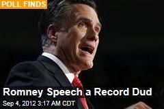 Romney Speech a Record Dud