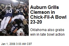 Auburn Grills Clemson in Chick-Fil-A Bowl 23-20