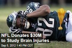 NFL Donates $30M to Study Brain Injuries