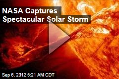 NASA Captures Spectacular Solar Storm