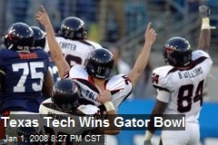 Texas Tech Wins Gator Bowl