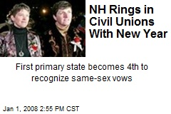NH Rings in Civil Unions With New Year