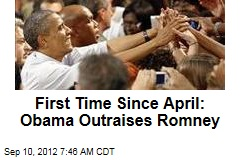 First Time Since April: Obama Outraises Romney