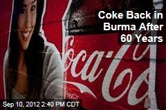 Coke Back in Burma After 60 Years
