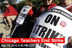 Chicago Teachers End Strike