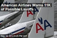 American Airlines Warns 11K of Possible Layoffs