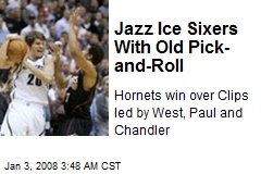 Jazz Ice Sixers With Old Pick-and-Roll
