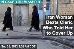Iran Woman Beats Cleric Who Told Her to Cover Up