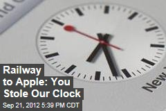 Railway to Apple: That's Our Clock Design