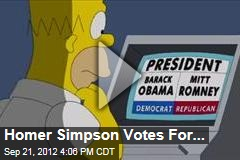 Homer Simpson Votes for ...