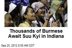 Thousands of Burmese Await Suu Kyi in Indiana