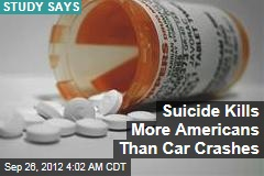 Suicide Kills More Americans Than Car Crashes