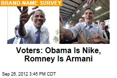 Voters: Obama Is Nike, Romney Is Armani