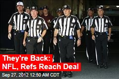 NFL, Refs Reach Deal