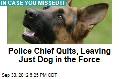 Police Chief Quits, Leaving Just Dog in the Force