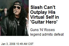 Slash Can't Outplay His Virtual Self in 'Guitar Hero'