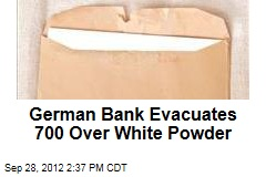 German Bank Evacuates 700 Over White Powder