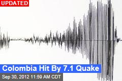 Colombia Hit By 7.4 Quake