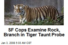 SF Cops Examine Rock, Branch in Tiger Taunt Probe