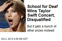 School for Deaf Wins Taylor Swift Concert, Disqualified