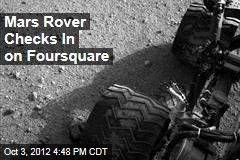 Mars Rover Checks In on Foursquare